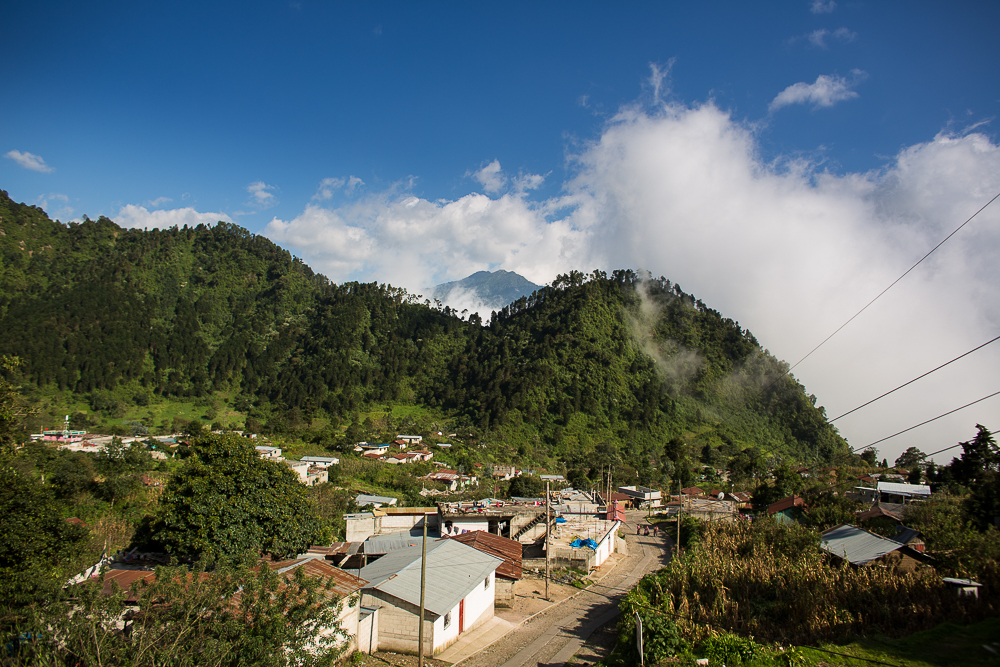 Village in the mountains outside of Xela.