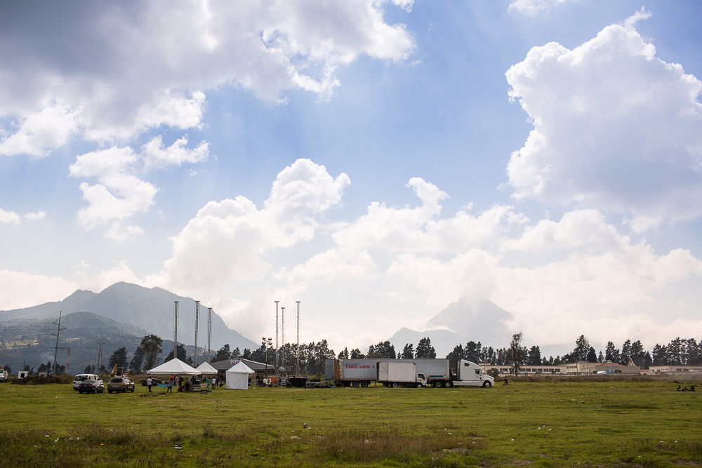 The Festival grounds in Xela, Guatemala