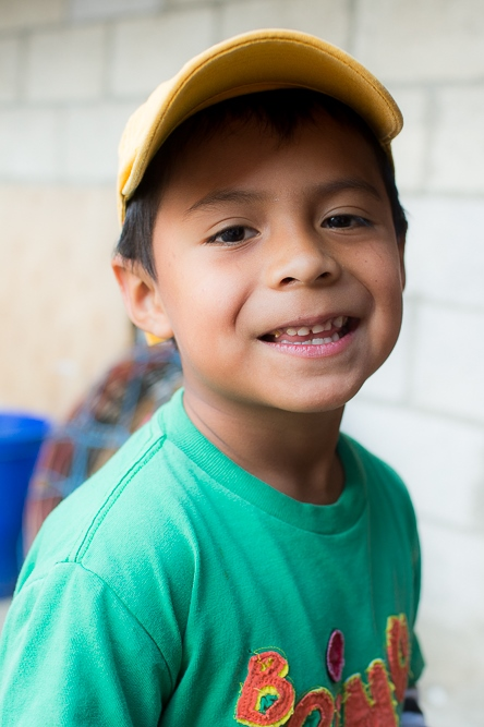Smiling boy in Xela