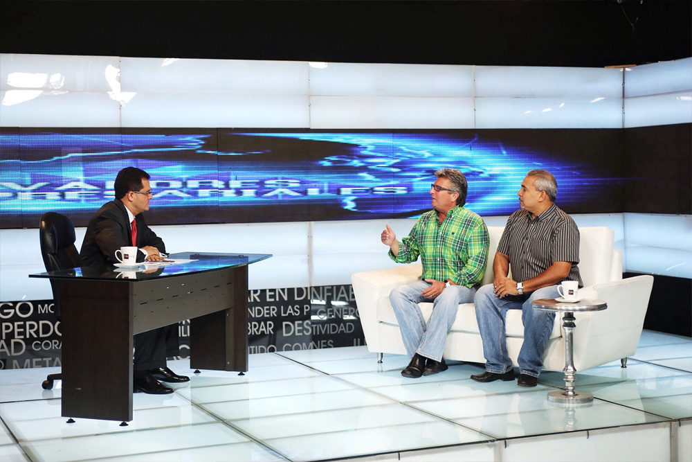 Mike had an opportunity to appear on one of the largest television stations in the Spanish speaking world, reaching about 45 million people around the globe. The network is owned by Christians but the programs are not heavily religious, reaching a mostly secular audience. The Lord gave Mike great favor during the interview and he was asked by the network to record a number of spots that can be shown on a regular basis, with each giving a life lesson and pointing the audience to Christ.  Mike will record several spots later this week while we are here and they will begin airing immediately!